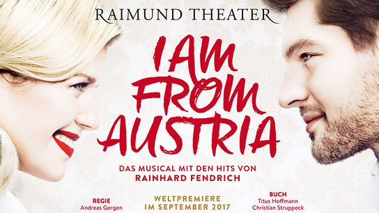"Musical-Plakat ""I am from Austria"""