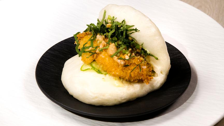 Bao Bun, Kabeljau, Wasabi-Mayo