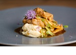 Bries Sellerielasagne mit Pilzen